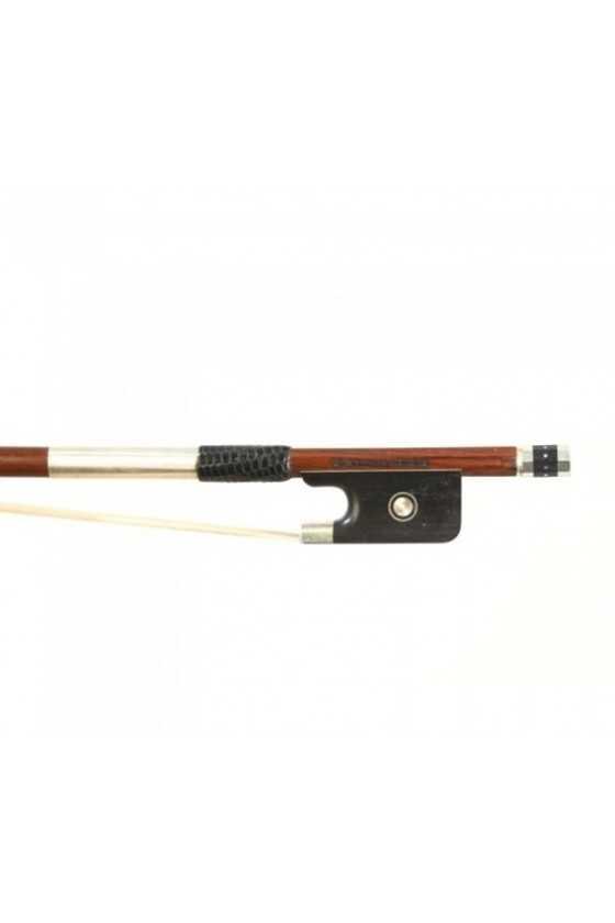 Dorfler Viola Bow - 22 Pernambuco Wood - Genuine Silver Trimming - Master Bow - Round