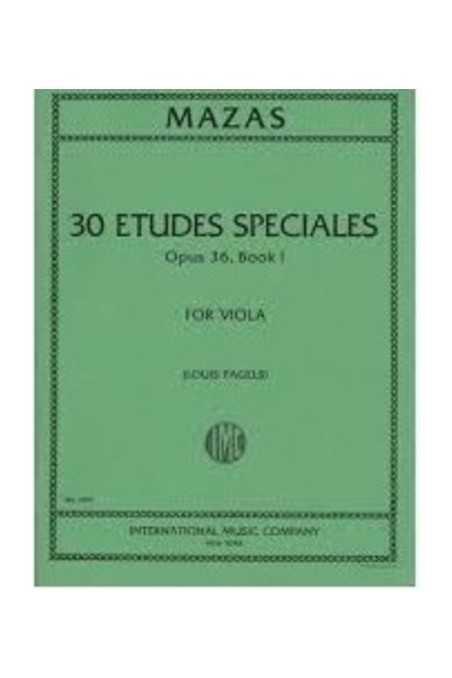 Mazas 30 Etudes Specials Op.36 Book 1 Viola Solo (IMC)