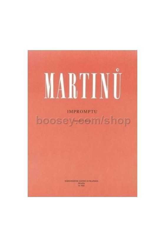 Martinu, Impromptu For...