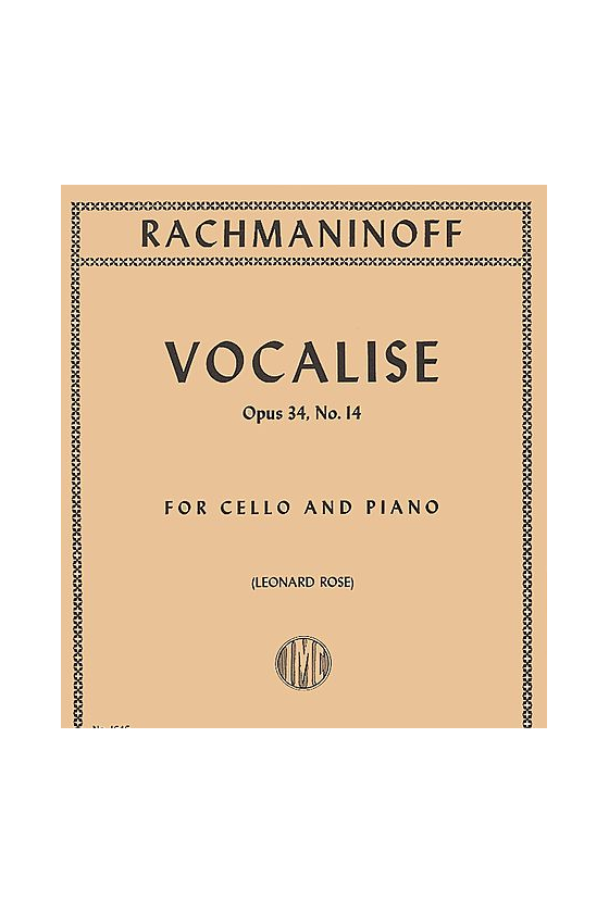 Rachmaninoff, Vocalise For...
