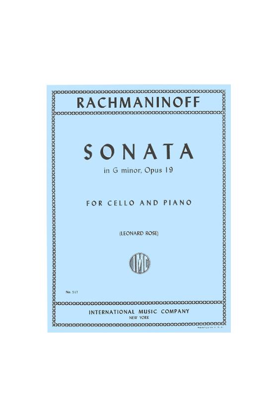 Sonata In G Minor For Cello...