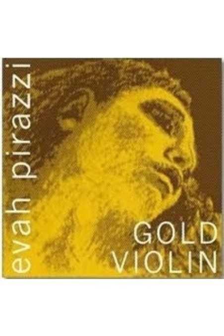 4/4 Evah Pirazzi Gold Violin Stainless Steel E String (Loop End)