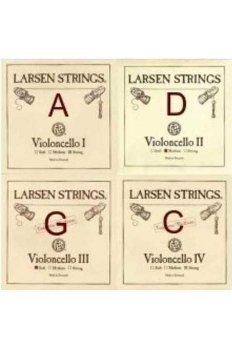 4/4 Larsen Medium Cello String Set