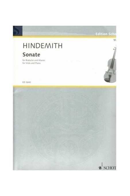 Hindemith The 1939 Sonata For Viola And Piano (Schott)