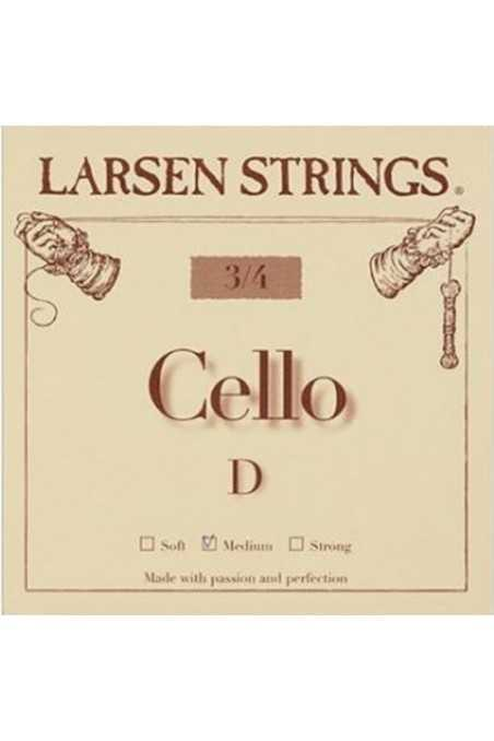 Larsen D 3/4 Size Cello Strings - Medium