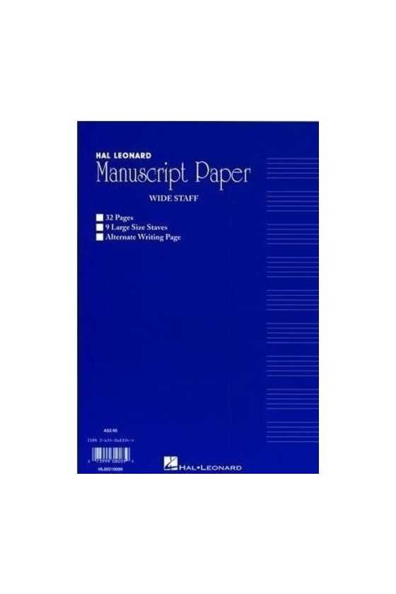Manuscript Paper - Split Writing And Stave