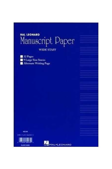 Manuscript Paper - Split Writing And Stave