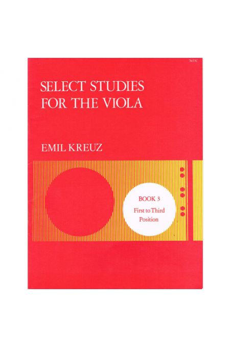 Kreuz, Select Studies For Viola Bk 3 (Stainer & Bell)