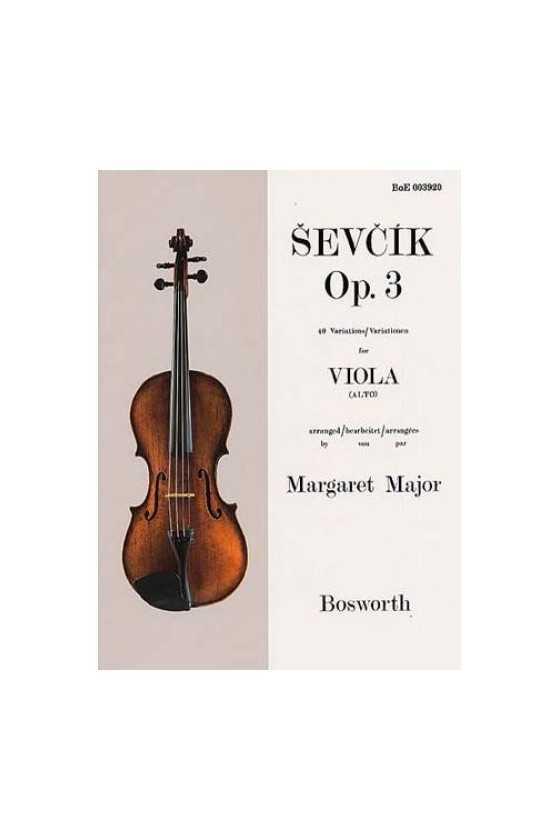 Sevcik, Op. 3 For Viola...