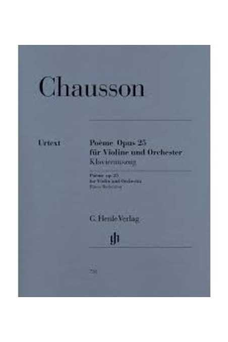 Chausson Poeme Op. 25 For Violin (Henle)
