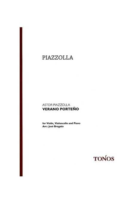 Piazzolla Verano Porteno Arr. For Violin, Cello And Piano (Tonos)