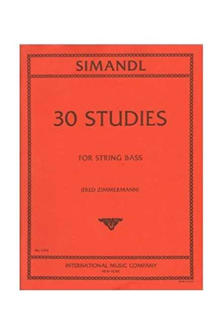 Simandl, 30 Studies For Double Bass (IMC)