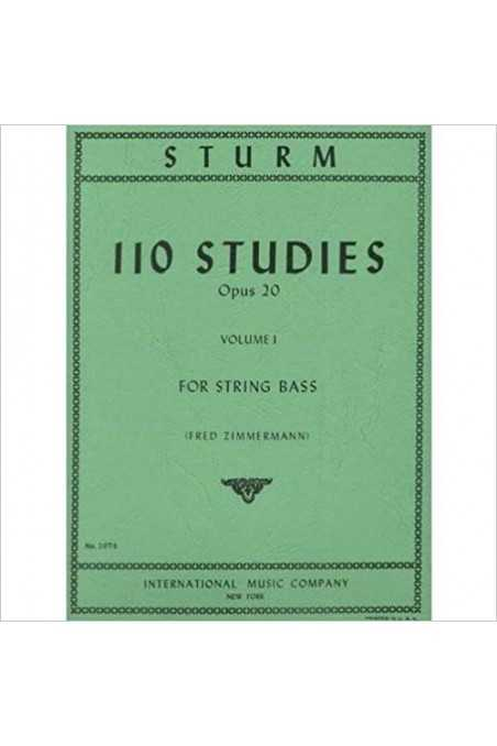 Sturm, 110 Studies Op. 20 For String Bass