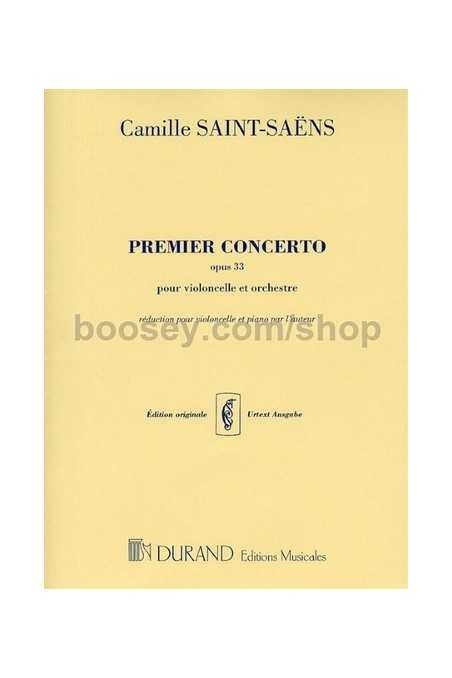 Saint-Saëns, Premier Concerto No 1 In A Minor For Cello Opus 33 For Cello Solo And Piano Reduction (Durand)