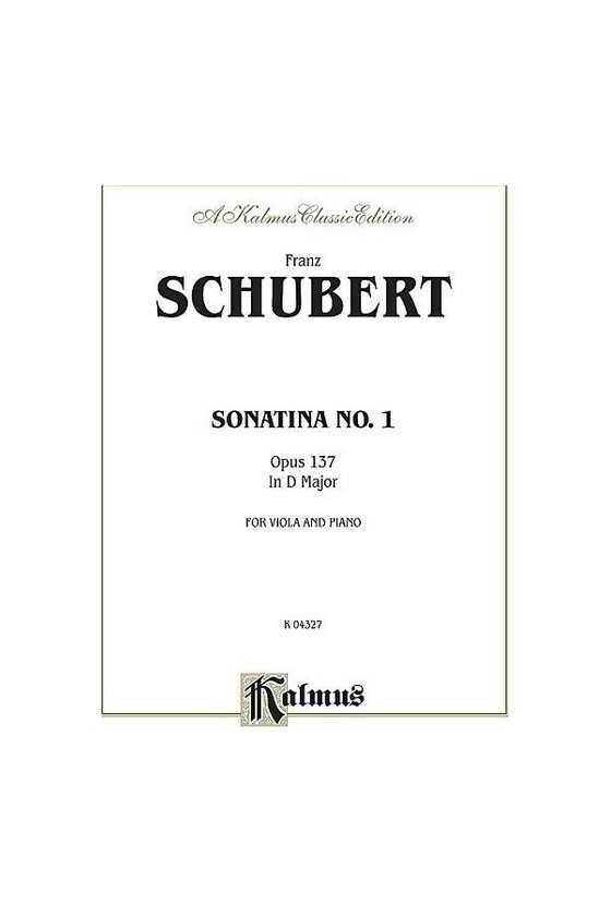Schubert, Sonatina In D...