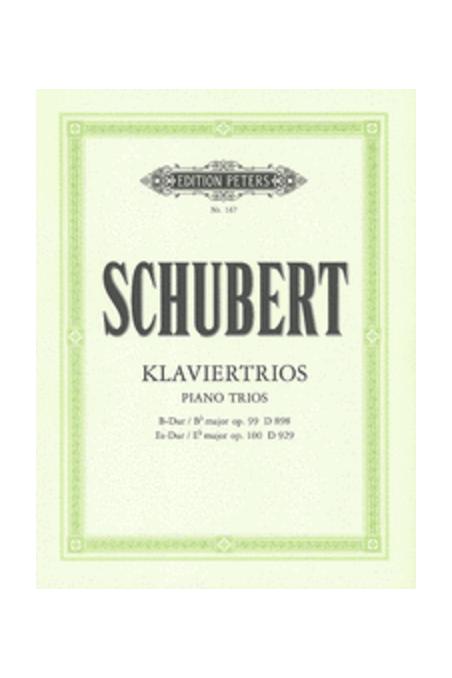 Schubert, Piano Trios (Peters)