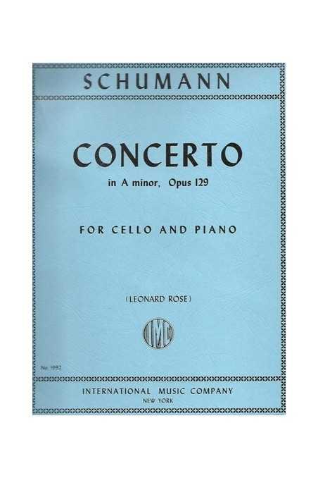 Schumann Concerto In A Min Op 129 For Cello (IMC)