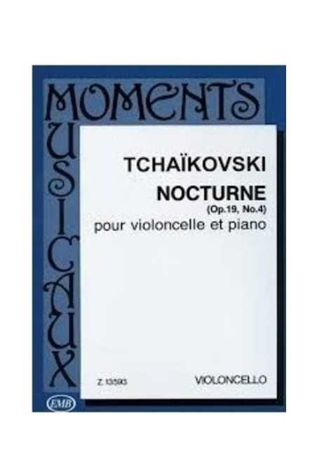 Nocturne Op. 19, No. 4 For Cello And Piano By Tchaikovsky