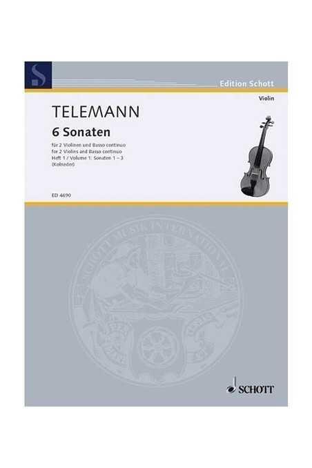 Telemann 6 Sonatas For Violin (Schott)