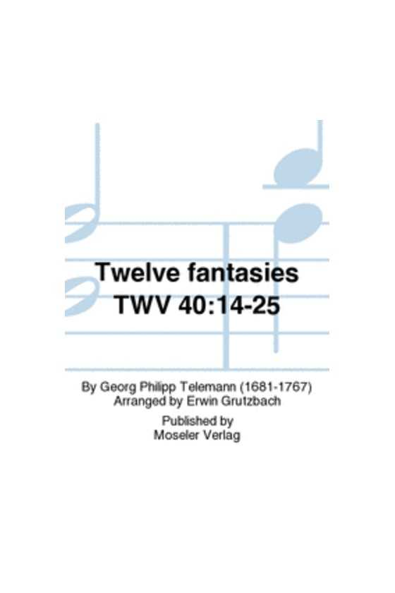 Telemann, 12 Fantasies for...