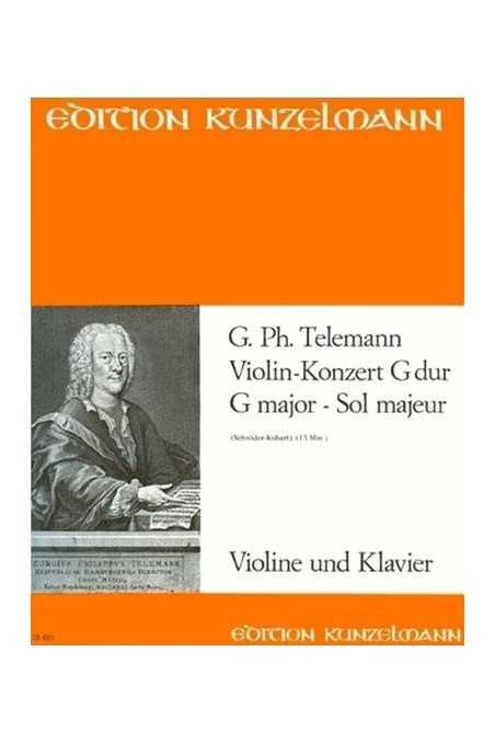 Telemann Concerto In G For Violin (Kunzelmann)