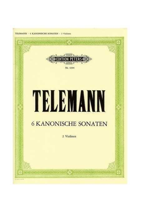 Telemann 6 Canonic Sonatas For 2 Violins (Peters)