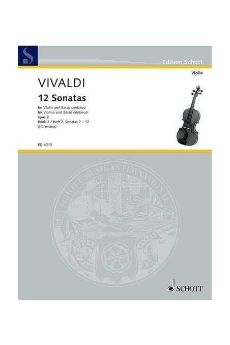 Vivaldi 12 Sonatas Book 2 Nos.7-12 (Schott)