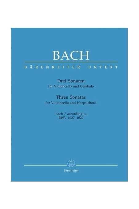 Bach, 3 Sonatas For Cello (Barenreiter)