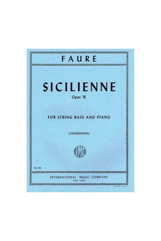 Faure, Sicilienne Op.78 for...