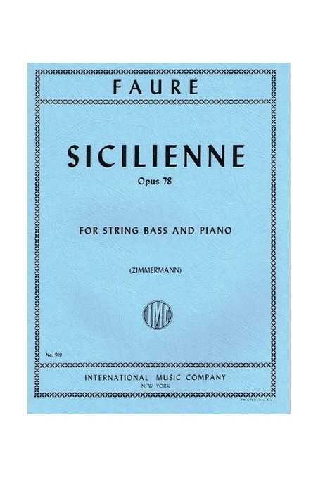 Faure, Sicilienne Op.78 For Double Bass (IMC)