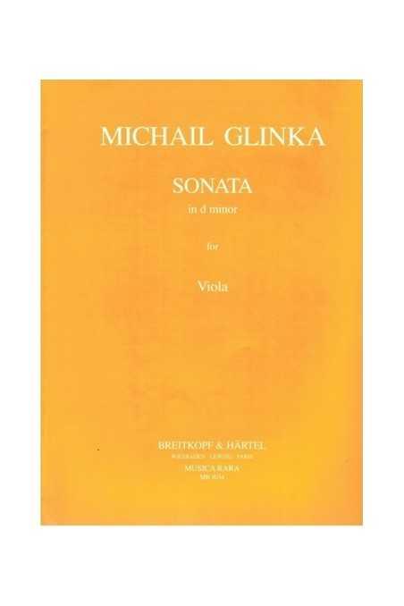 Glinka, Sonata In D Minor For Viola And Piano (Breitkopf)