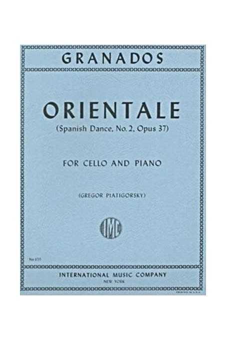 Granados, Orientale For Cello And Piano (IMC)