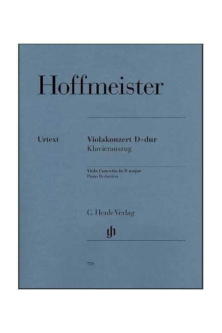 Hoffmeister Concerto In D Major For Viola (Henle)