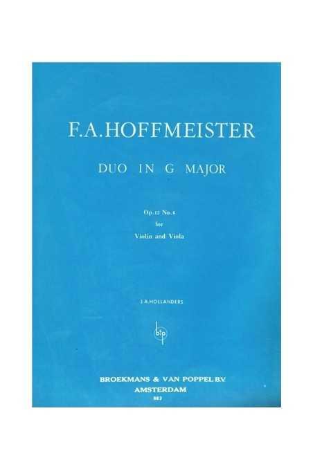 Hoffmeister, Duo In G Major Op.13 Nr.6 For Violin And Viola