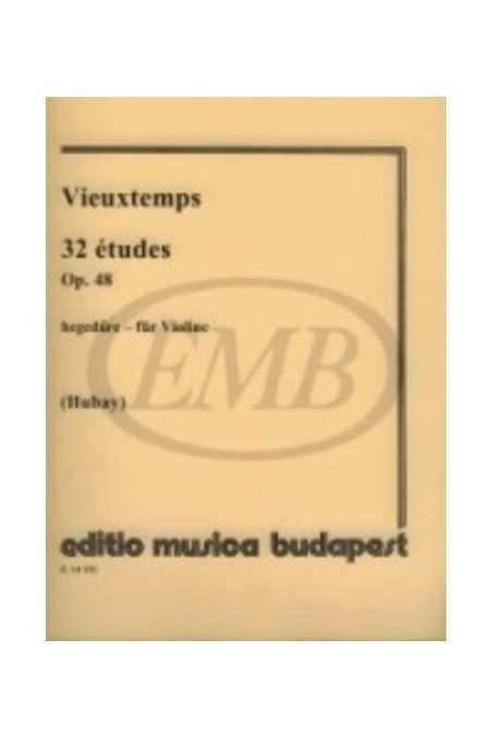 Vieuxtemps 32 Etudes Op. 48 For Violin Ed. Hubay (EMB)