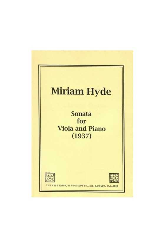Hyde, Sonata For Viola And...