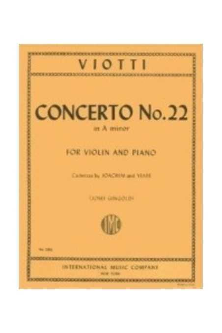 Viotti Concerto No. 22 In A Minor For Violin (Cadenzas By Joachim) IMC