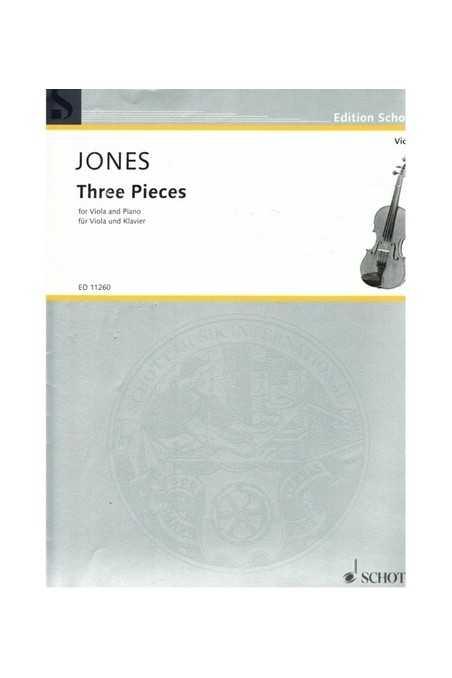 Jones Three Pieces For Viola And Piano (Schott)