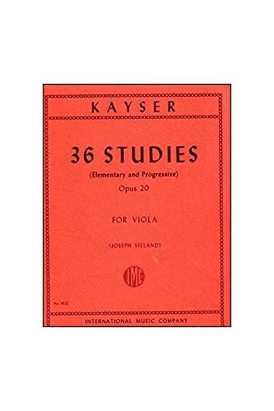 Kayser 36 Etudes Op. 20 For...