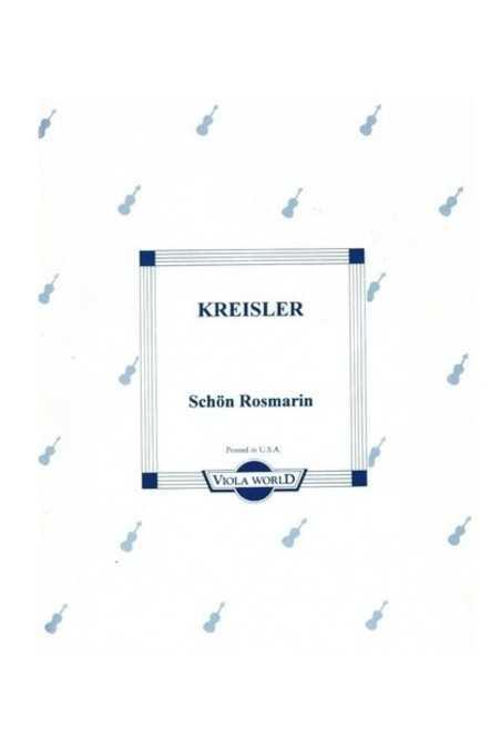 Kreisler, Schon Rosmarin For Viola (Viola World)
