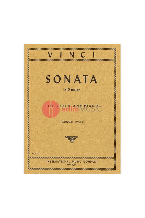 Vinci Sonata In D For Viola...