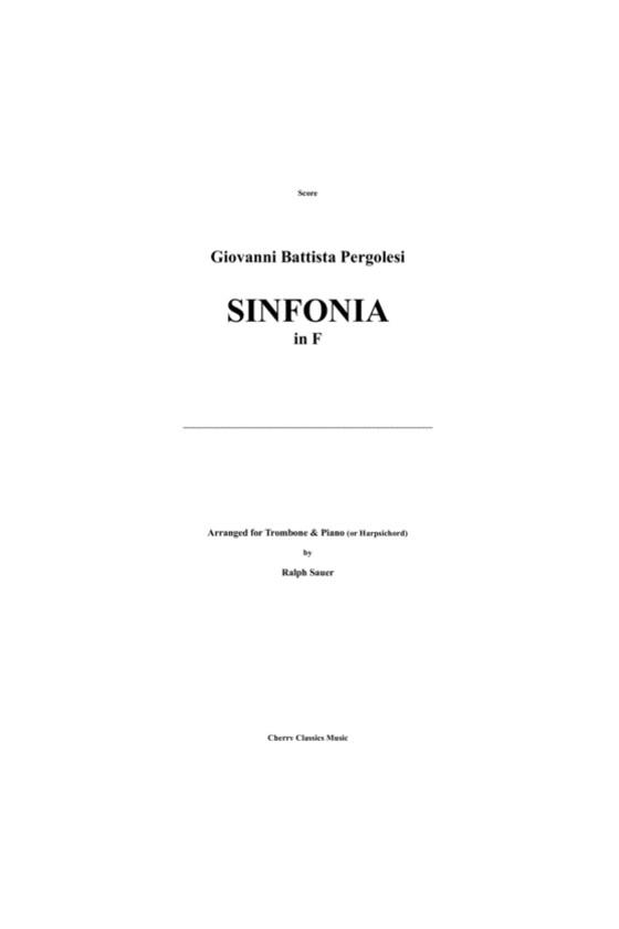 Pergolesi, Sinfonia For Viola