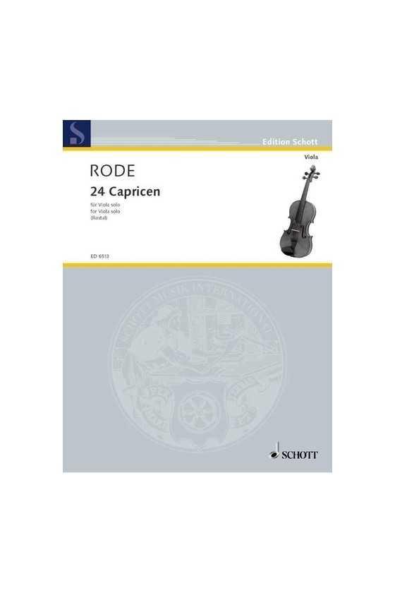 Rode 24 Capricen For Viola...
