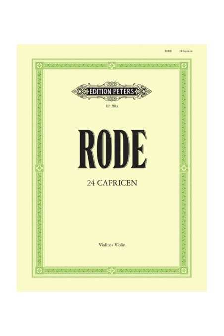 Rode 24 Caprices for Violin (Peters)