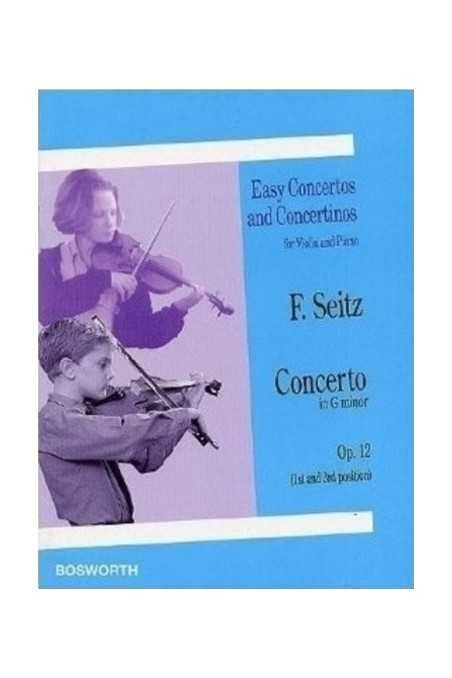 Seitz Concerto in G min Op 12 for Violin