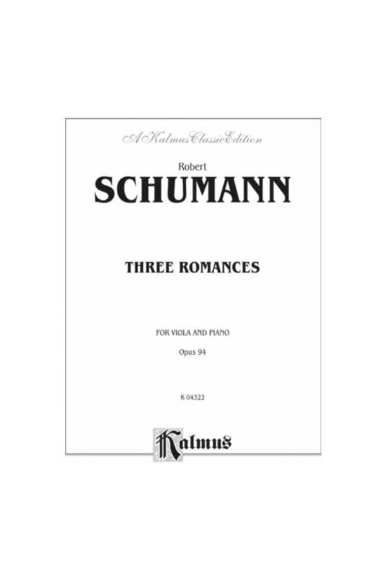 Schumann, 3 Romances For...