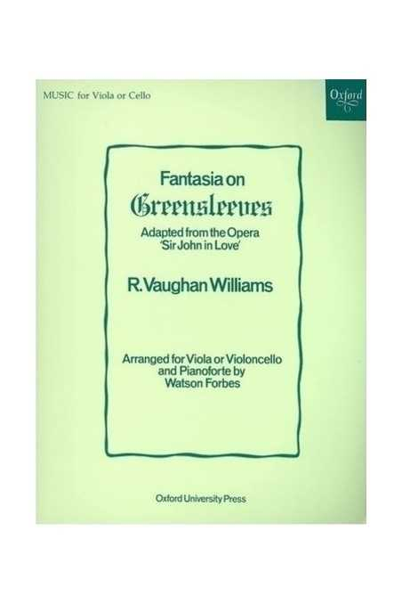 Vaughan Williams, Fantasia on Greensleeves for Viola/Cello (Oxford)