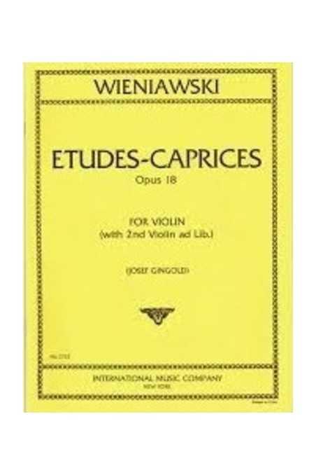 Wieniawski 2 Caprices For Violin (IMC)