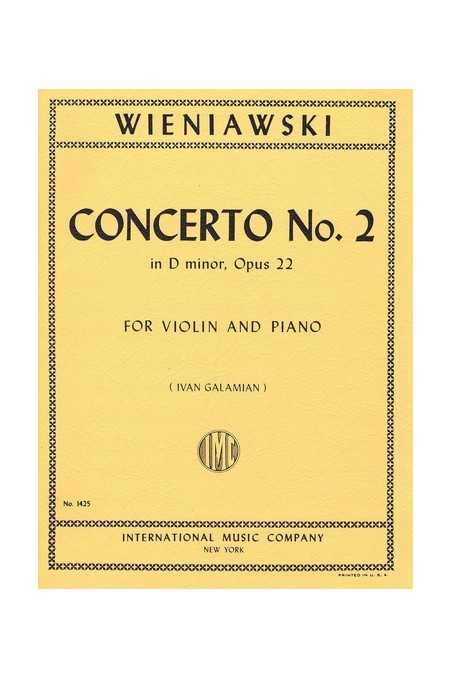 Wieniawski Concerto No. 2 In D Min Op. 22 For Violin (IMC)