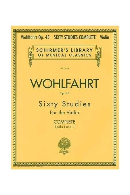 Wohlfahrt - Sixty Studies For The Violin Complete Books 1 & 2 (S)